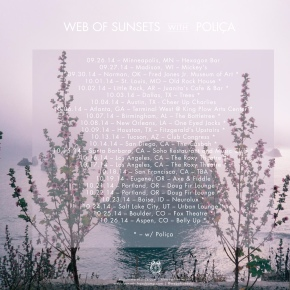 Web of Sunsets' US tour kicks off tonight in Minneapolis!