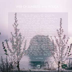 Web of Sunsets' US tour kicks off tonight inMinneapolis!